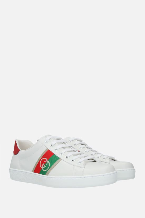 GUCCI: Ace smooth leather sneakers Color White_2
