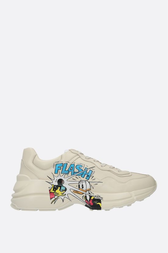 GUCCI: Rhyton Donald Duck Disney x Gucci leather sneakers Color White_1