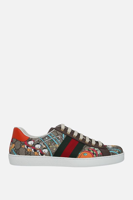 GUCCI: Ace Disney x Gucci Donald Duck canvas sneakers Color Multicolor_1