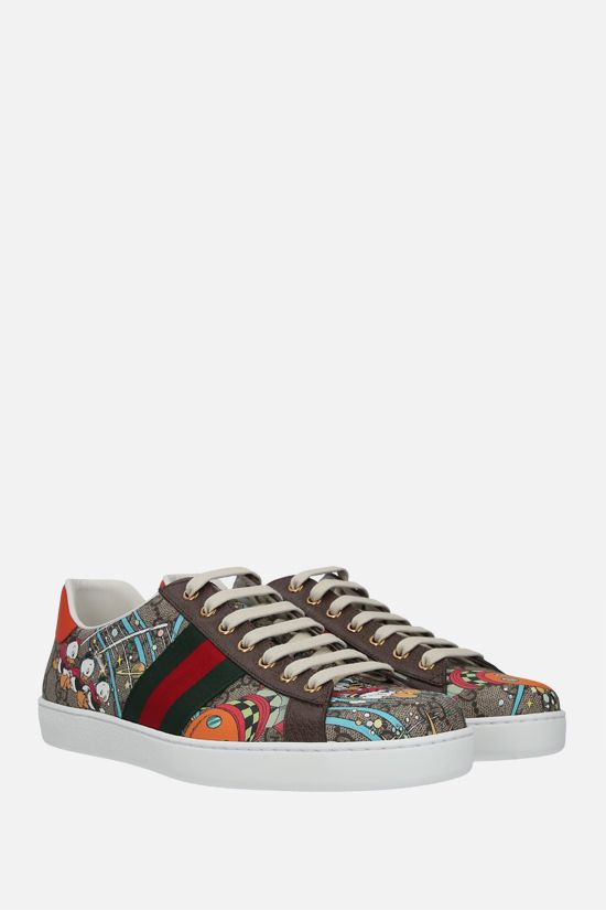 GUCCI: Ace Disney x Gucci Donald Duck canvas sneakers Color Multicolor_2