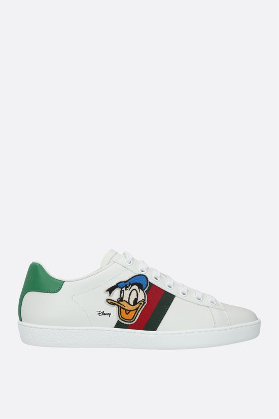 GUCCI: Ace Disney x Gucci Donald Duck leather sneakers Color White_1