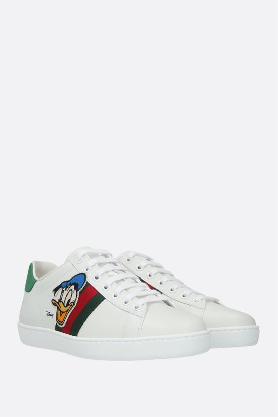 GUCCI: Ace Disney x Gucci Donald Duck leather sneakers Color White_2