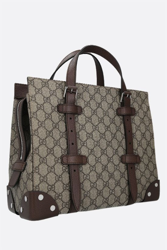 GUCCI: borsa tote in canvas GG Supreme Colore Multicolore_2