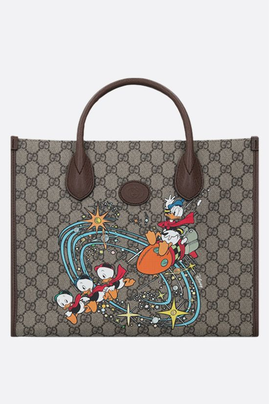 GUCCI: borsa tote Donald Duck Disney x Gucci in canvas Colore Multicolore_1