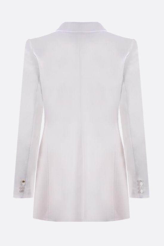 HEBE STUDIO: Smoking single-breasted satin jacket Color White_2