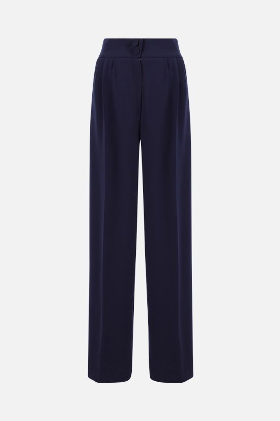 HEBE STUDIO: Girlfriend cady wide-leg pants Color Blue_1