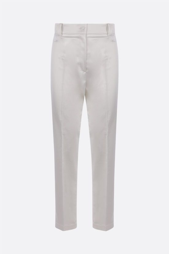 HEBE STUDIO: LouLou stretch satin pants Color White_1