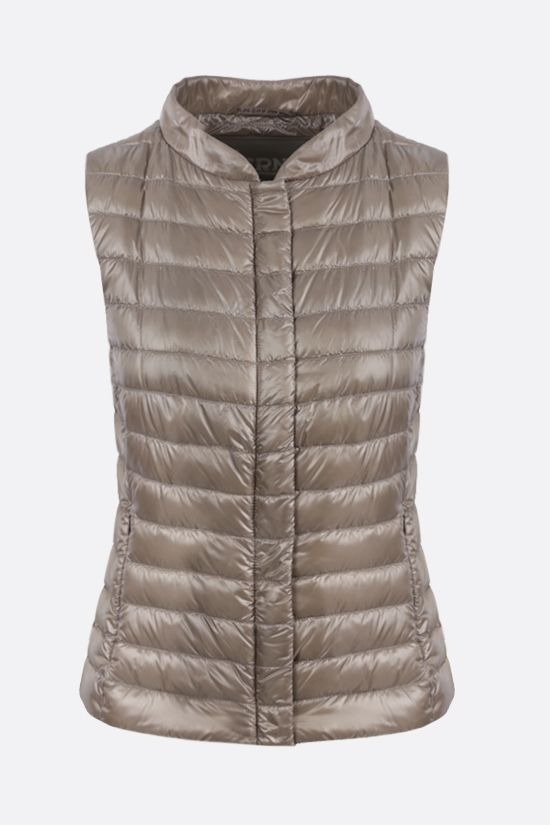 HERNO: ultralight nylon sleeveless down jacket Color Grey_1