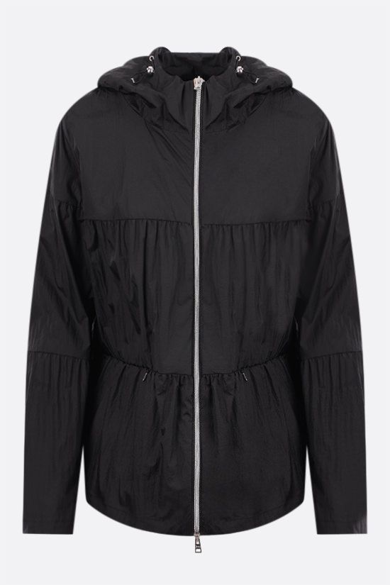 HERNO: flounced ultralight nylon windbreaker Color Black_1
