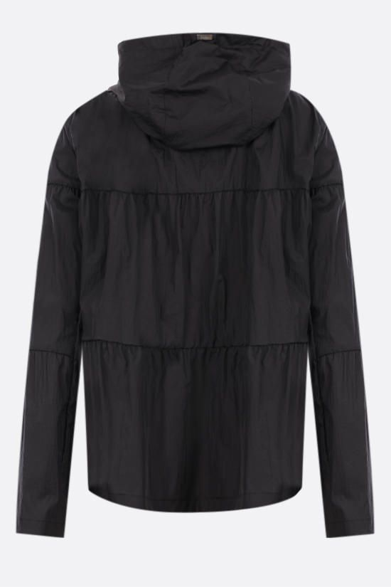 HERNO: flounced ultralight nylon windbreaker Color Black_2