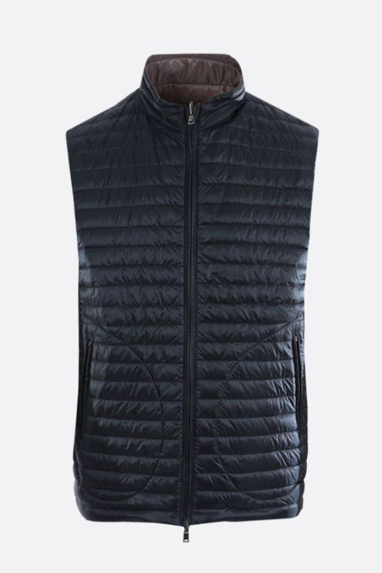 HERNO: reversible sleeveless down jacket in ultralight nylon Color Grey_2
