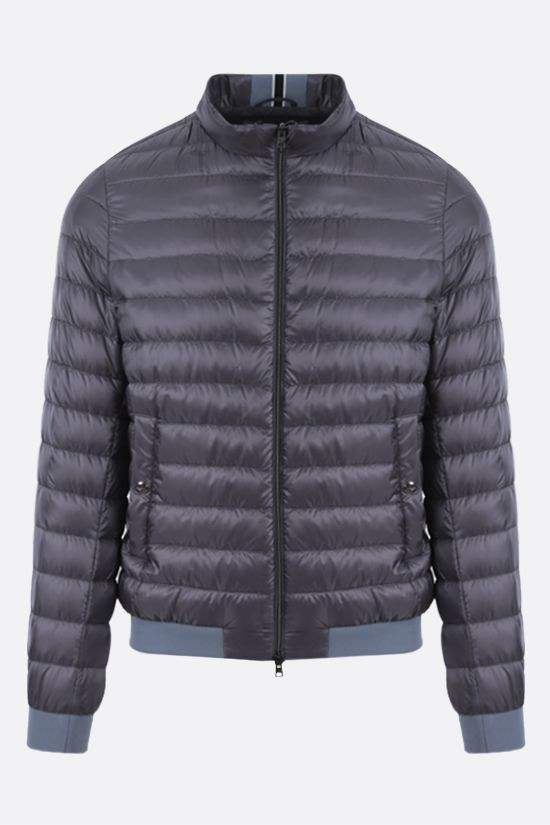 HERNO: ultralight nylon bomber down jacket Color Grey_1