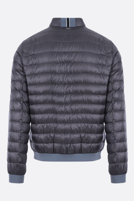 HERNO: ultralight nylon bomber down jacket Color Grey_2