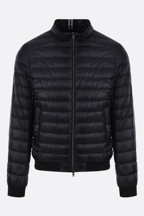 HERNO: ultralight nylon bomber down jacket Color Black_1