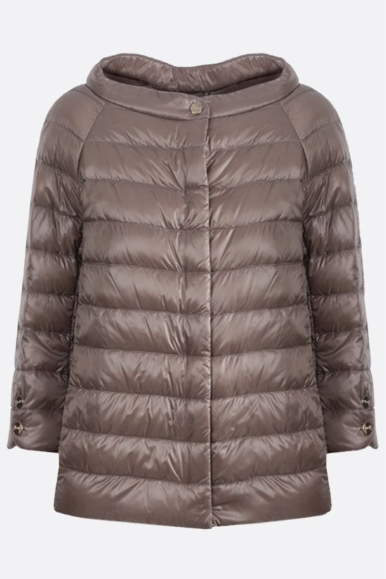 HERNO: Elsa ultralight nylon down jacket Color Grey_1