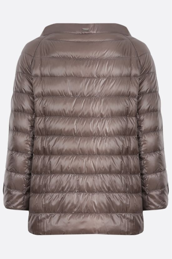 HERNO: Elsa ultralight nylon down jacket Color Grey_2