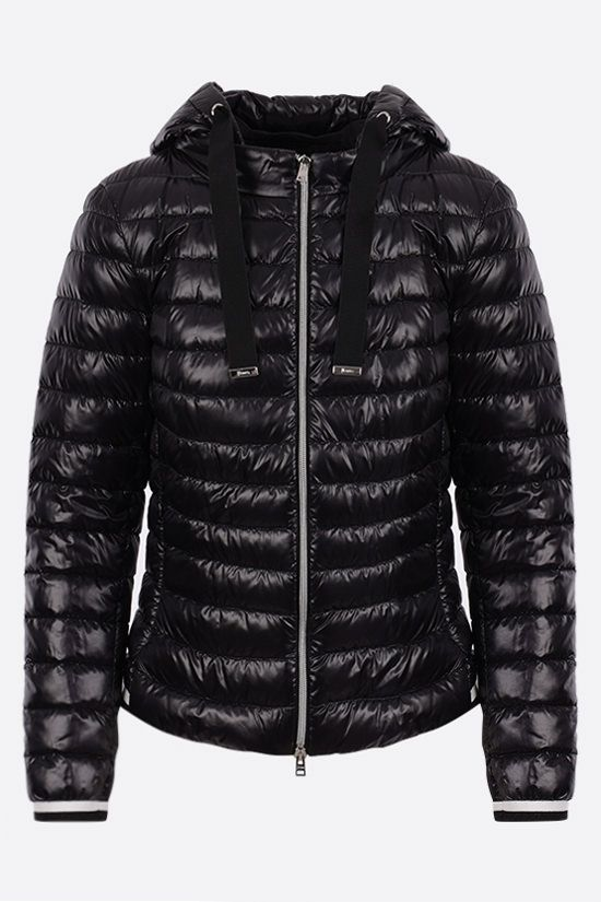 HERNO: ultralight nylon hooded down jacket Color Black_1