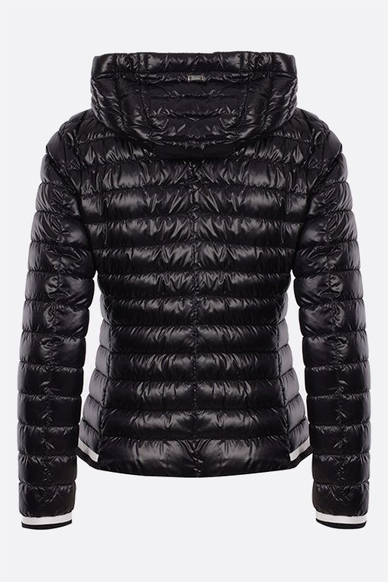 HERNO: ultralight nylon hooded down jacket Color Black_2
