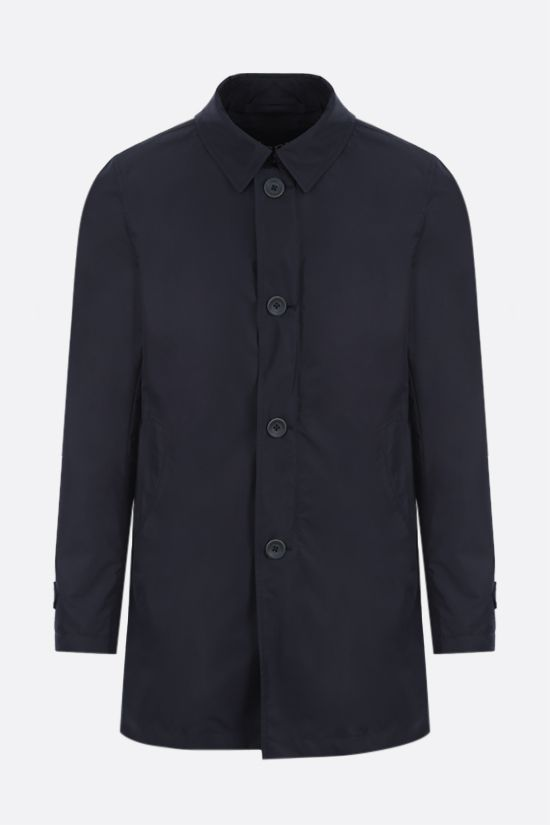 HERNO: Byron nylon single-breasted overcoat Color Blue_1
