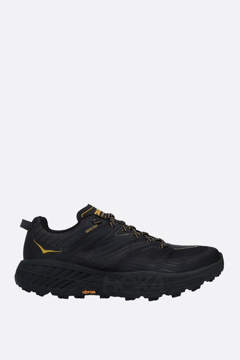 HOKA ONE ONE: Speedgoat 4 GTX tech knit sneakers Color Black_1