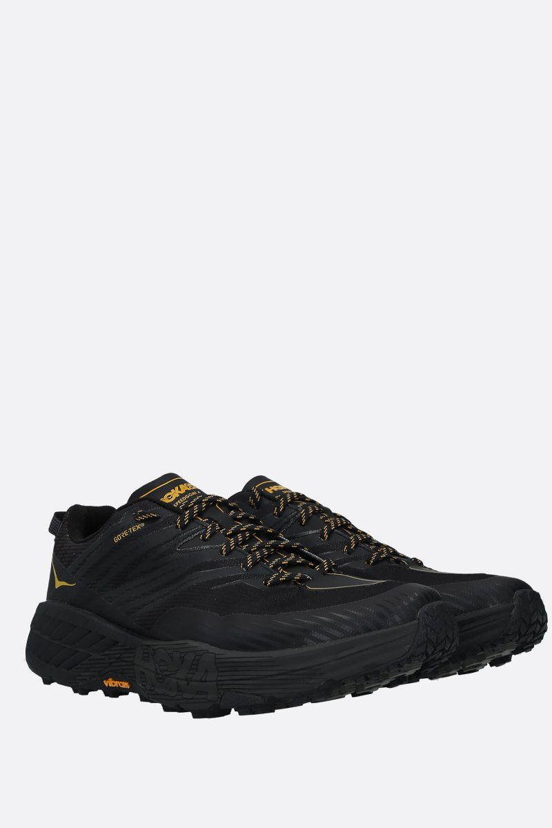 HOKA ONE ONE: Speedgoat 4 GTX tech knit sneakers Color Black_2