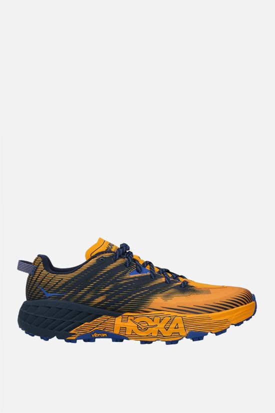 HOKA ONE ONE: Speedgoat 4 tech knit sneakers Color Yellow_1