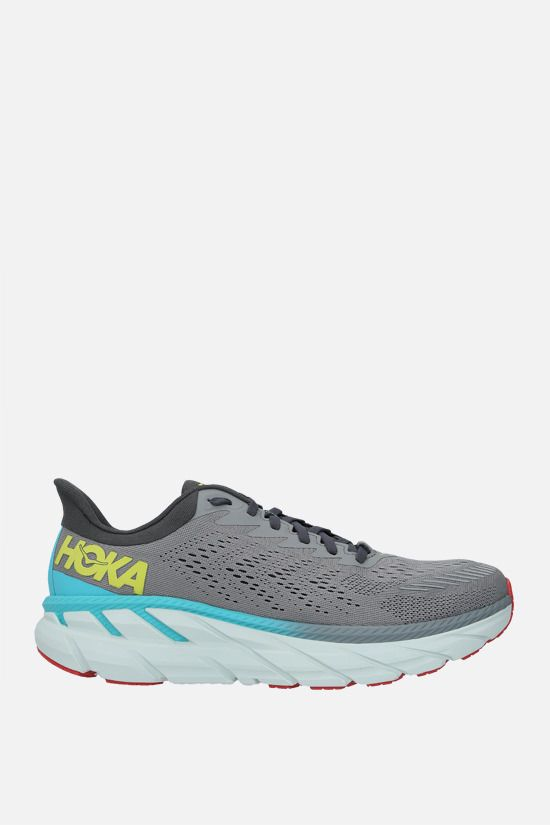 HOKA ONE ONE: Clifton 7 tech knit sneakers Color White_1