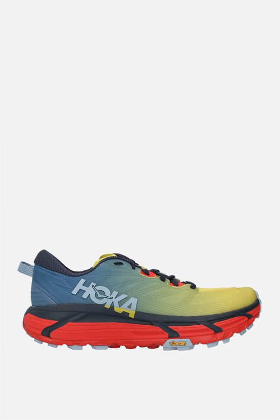 HOKA ONE ONE: Mafate Speed 3 tech knit sneakers Color Blue_1