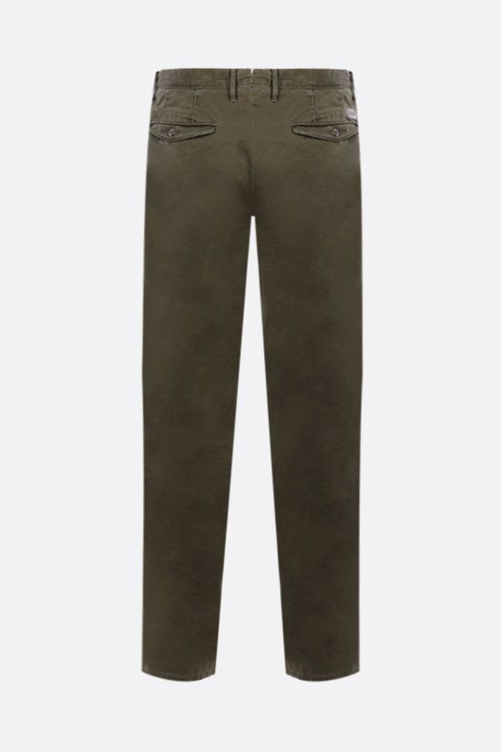 INCOTEX: Slacks stretch cotton pants Color Green_2