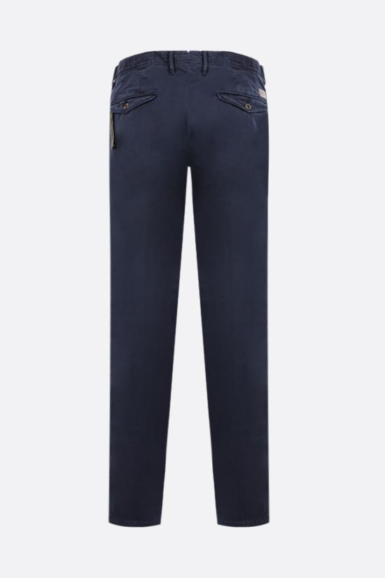 INCOTEX: pantalone Slacks in cotone stretch Colore Blu_2