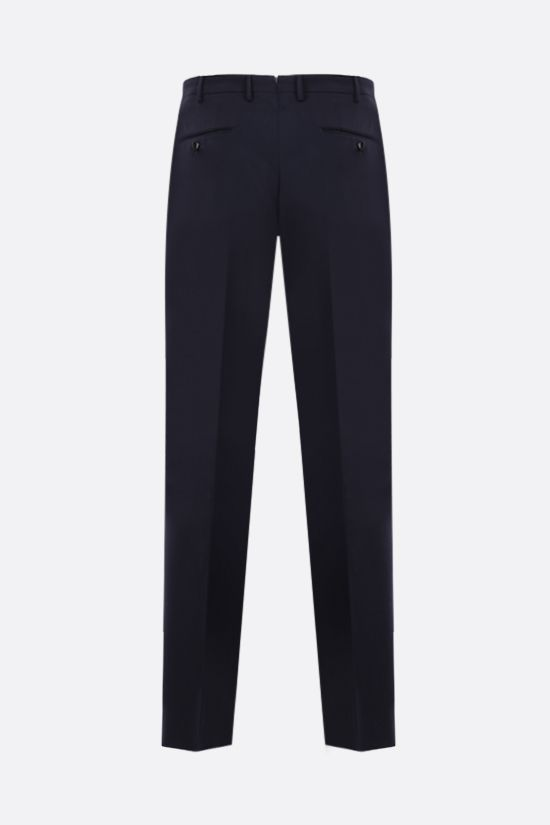INCOTEX: slim-fit lightweight wool pants Color Blue_2