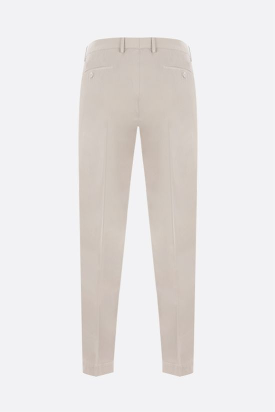 INCOTEX: tapered-fit stretch cotton pants Color Neutral_2