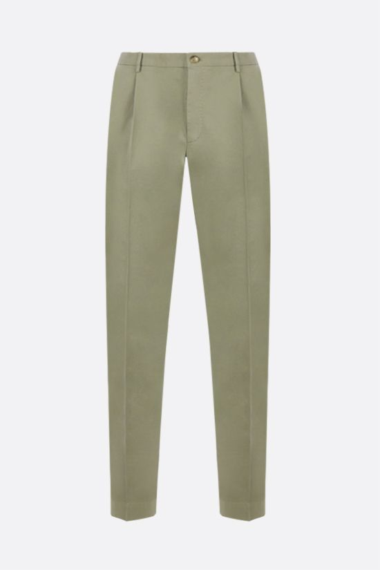 INCOTEX: tapered-fit stretch cotton pants Color Brown_1