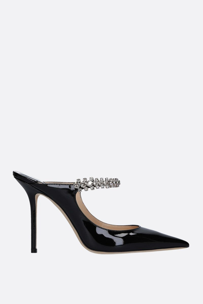 JIMMY CHOO: Bing patent leather mules Color Black_1