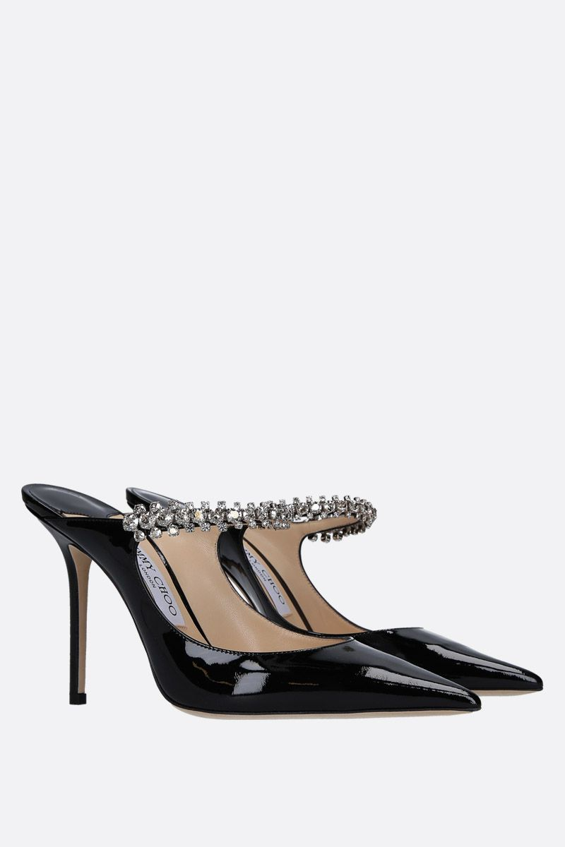 JIMMY CHOO: Bing patent leather mules Color Black_2