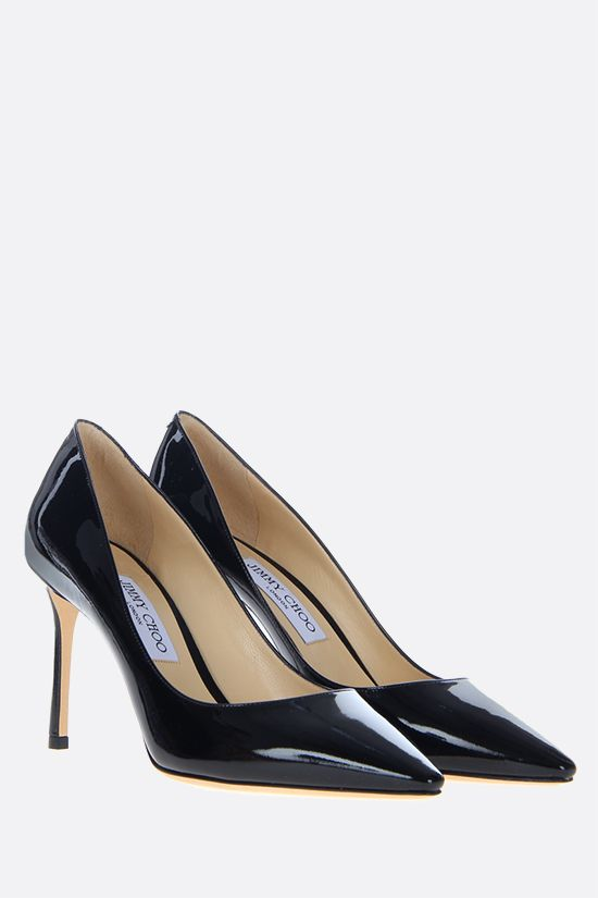 JIMMY CHOO: Romy patent leather pumps Color Black_2