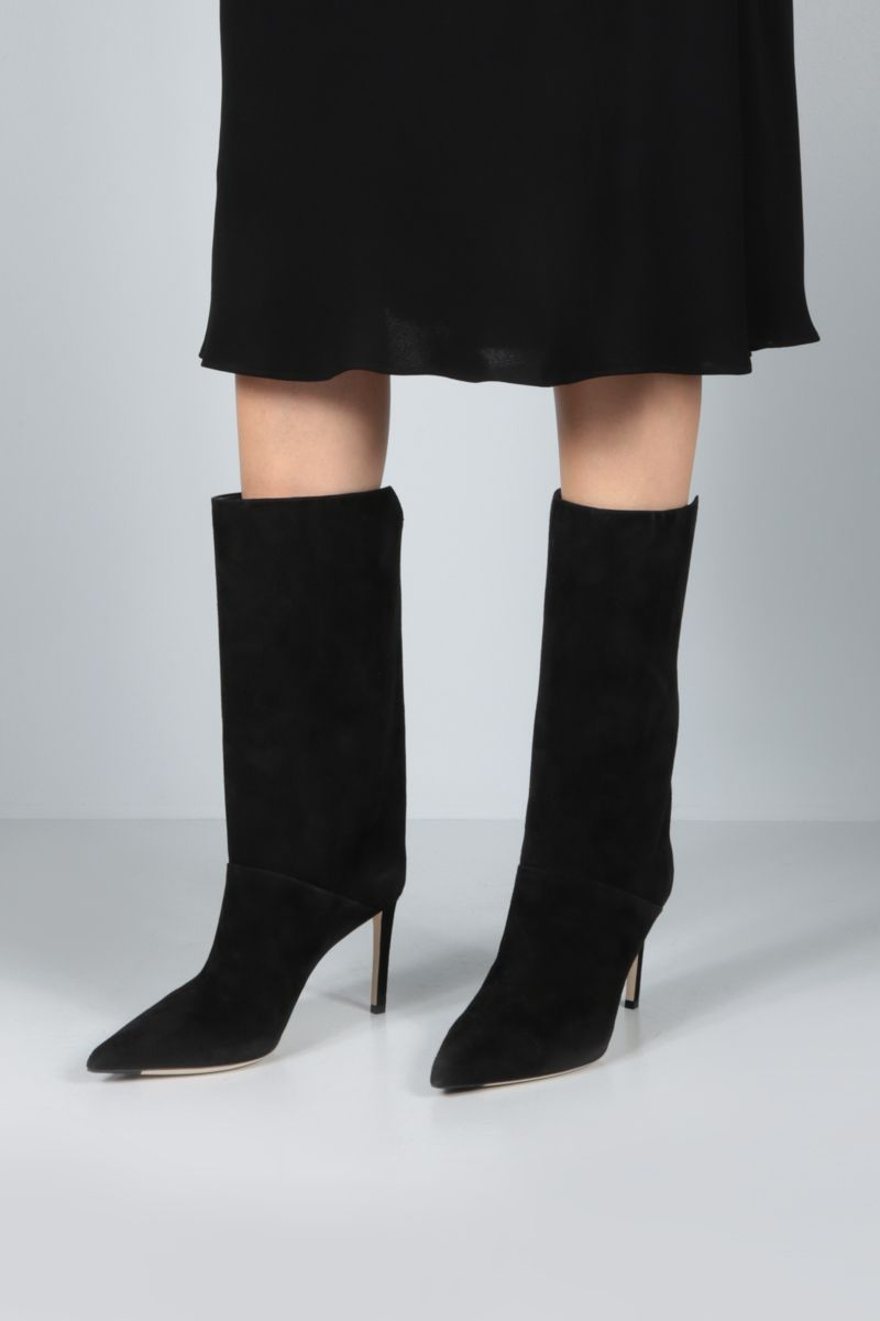 JIMMY CHOO: Beren suede boots Color Black_2
