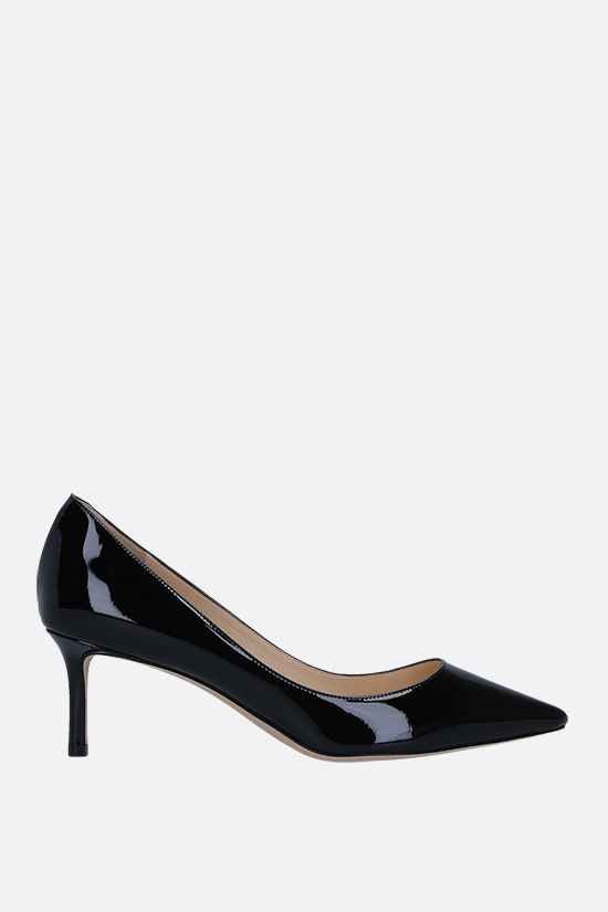 JIMMY CHOO: Romy patent leather pumps Color Black_1