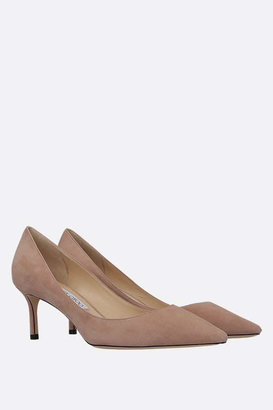 JIMMY CHOO: Romy suede pumps Color Neutral_2