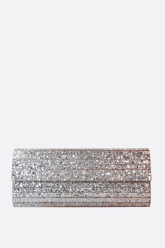JIMMY CHOO: Sweetie glitter acrylic chain clutch Color Multicolor_1