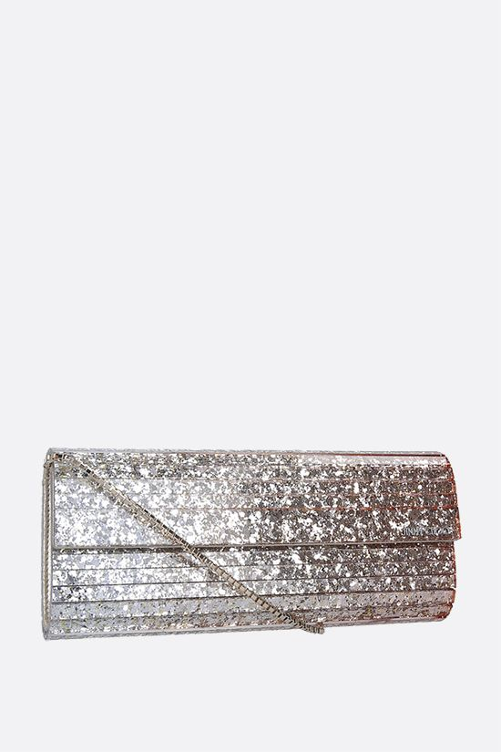 JIMMY CHOO: Sweetie glitter acrylic chain clutch Color Multicolor_2