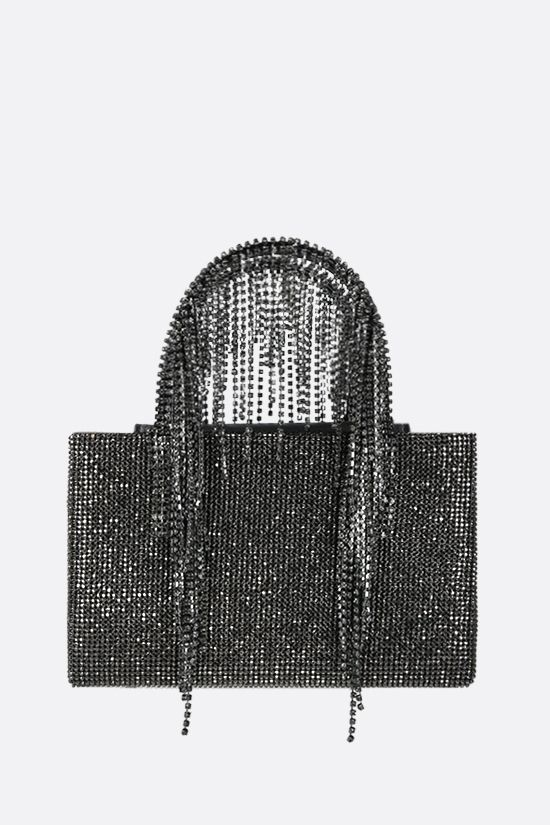 KARA: Fringe midi crystal mesh handbag Color Black_1