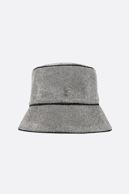 KARA: crystal mesh bucket hat Color Silver_1