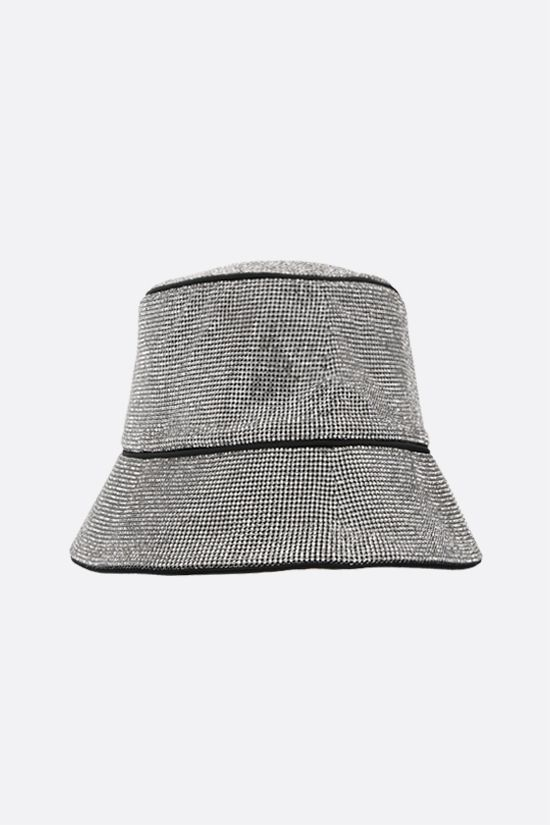 KARA: crystal mesh bucket hat Color Silver_2