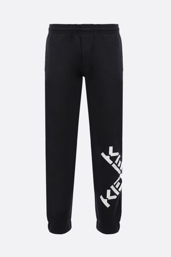 KENZO: Kenzo Sport Big X jersey joggers Color Black_1