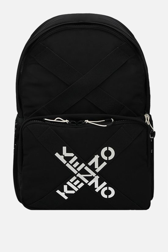 KENZO: Kenzo Sport nylon backpack Color Black_1