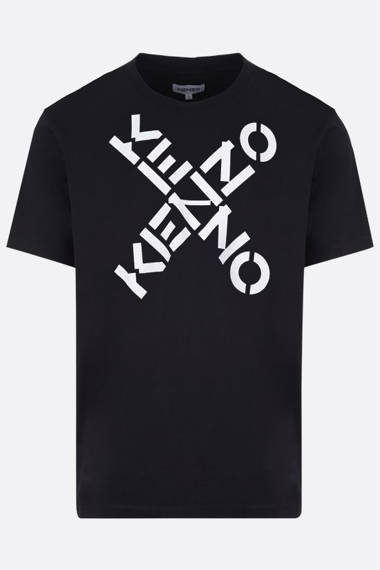 KENZO: t-shirt oversize Kenzo Sport Big X in cotone Color Black_1