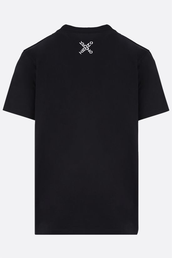 KENZO: t-shirt oversize Kenzo Sport Big X in cotone Color Black_2