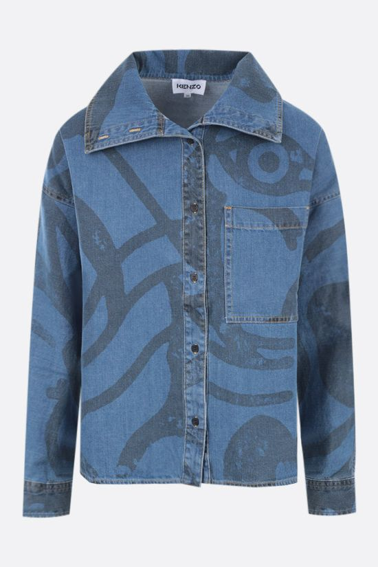 KENZO: K-Tiger denim shirt Color Blue_1