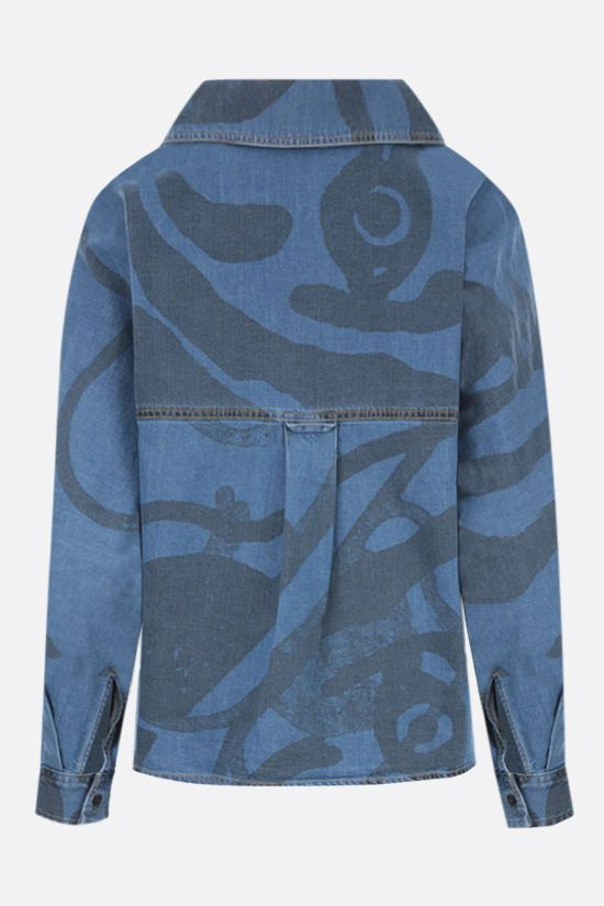 KENZO: K-Tiger denim shirt Color Blue_2